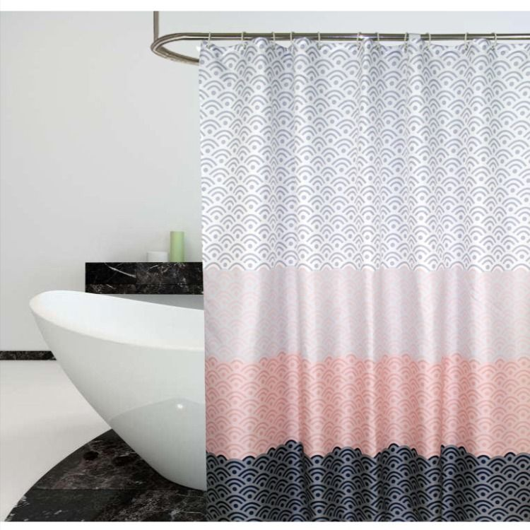 Four Color Stitching Pattern Shower Curtain Morden Bathroom Curtains Extra Long In 2020 Geometric Shower Curtain Patterned Shower Curtain Shower Curtain
