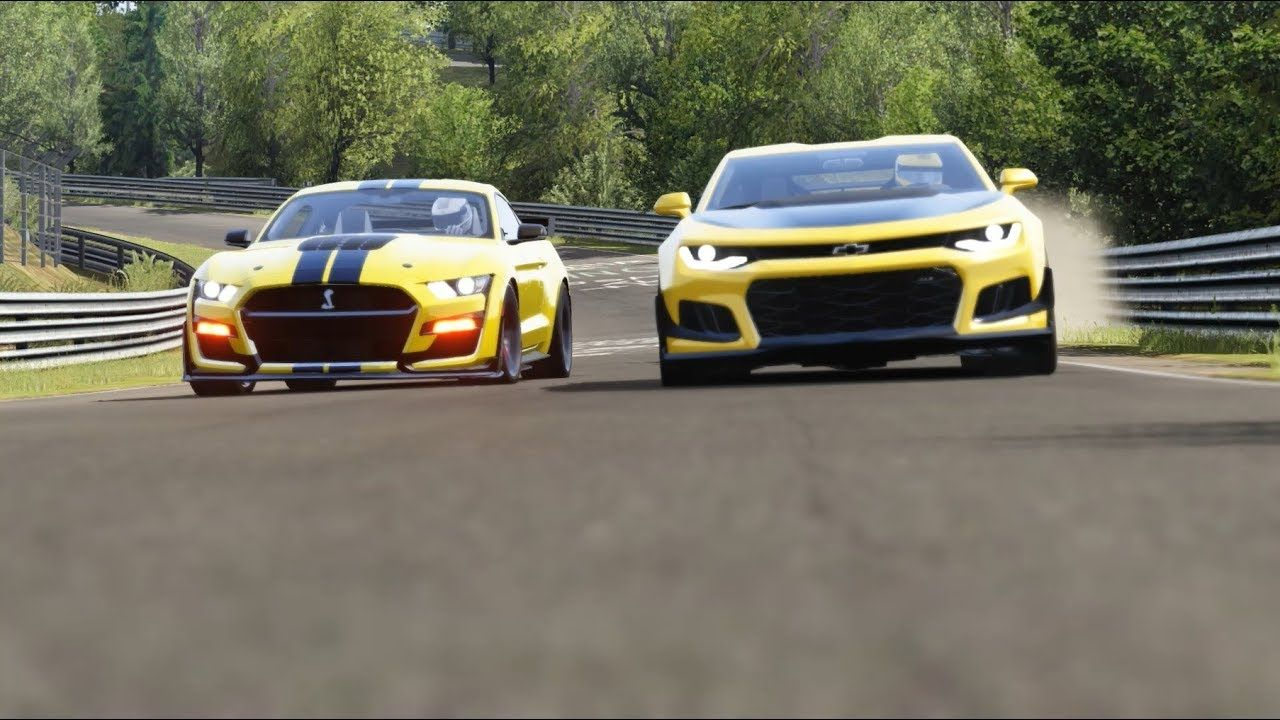 Ford Mustang Shelby Gt500 20 Vs Chevrolet Camaro Zl1 1le 19 At