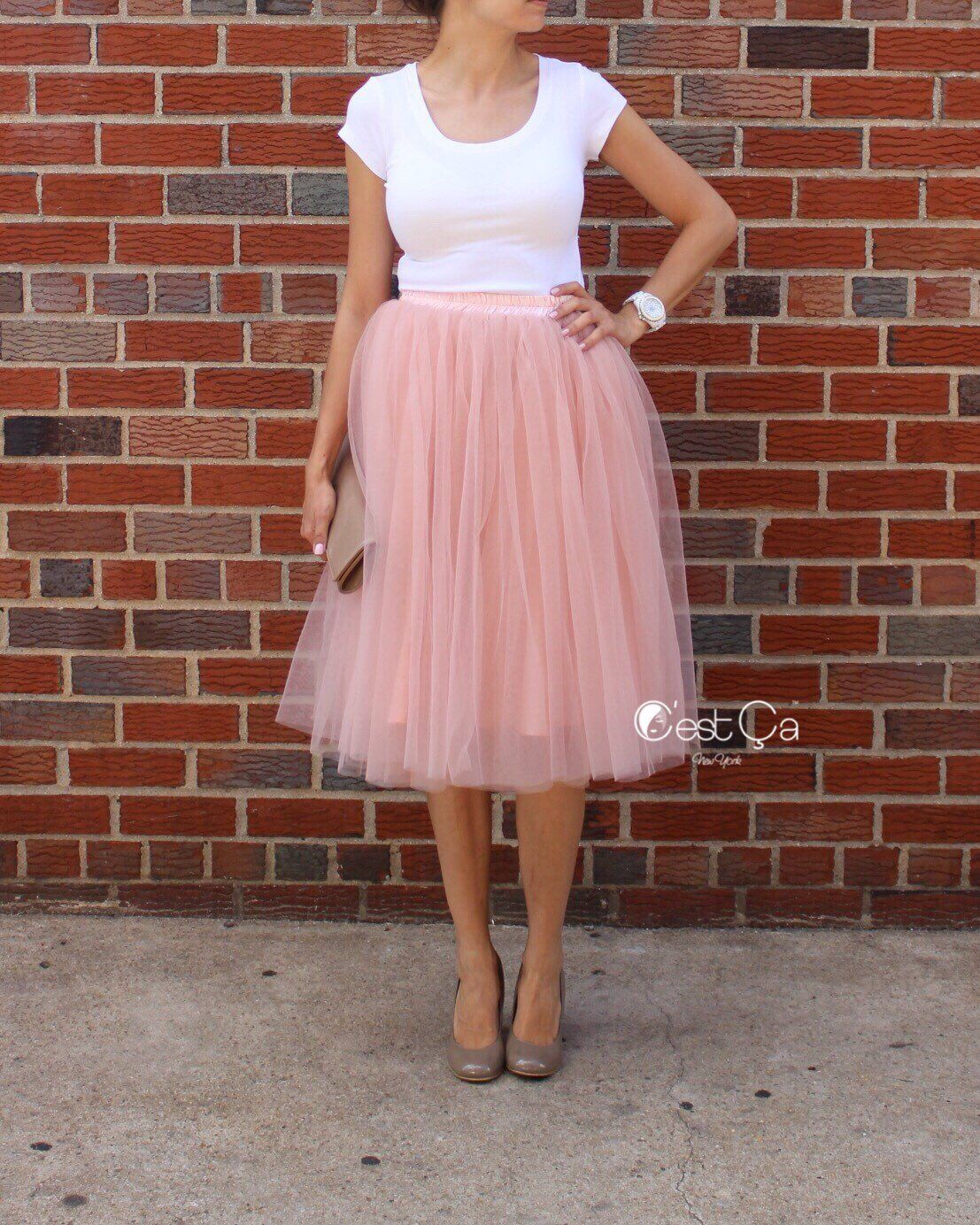c5927255cc Excited to share this item from my #etsy shop: Colette - Gray Pink Tulle  Skirt, Mauve Tulle Skirt, Premium Tulle Skirt, Soft Tulle Skirt, Plus Size  Tulle ...