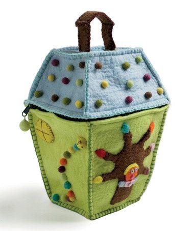 Look at this #zulilyfind! Green Felted House Bag #zulilyfinds