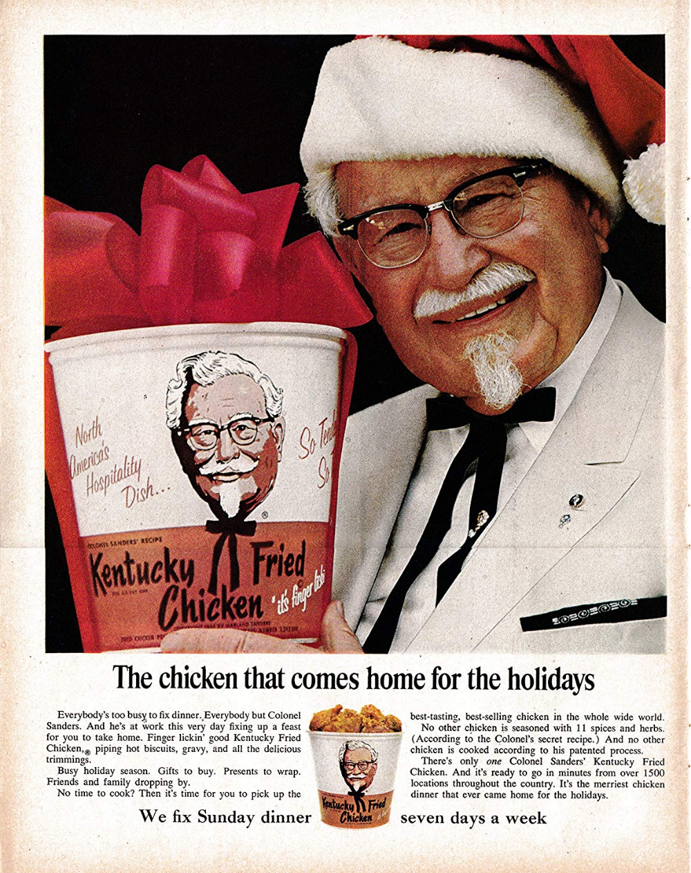Amazon Com 1967 Kfc Fried Chicken Colonel Harland David Sanders Original 13 5 10 5 Magazine Ad Classic Ads Fried Chicken Kentucky Fried Kfc