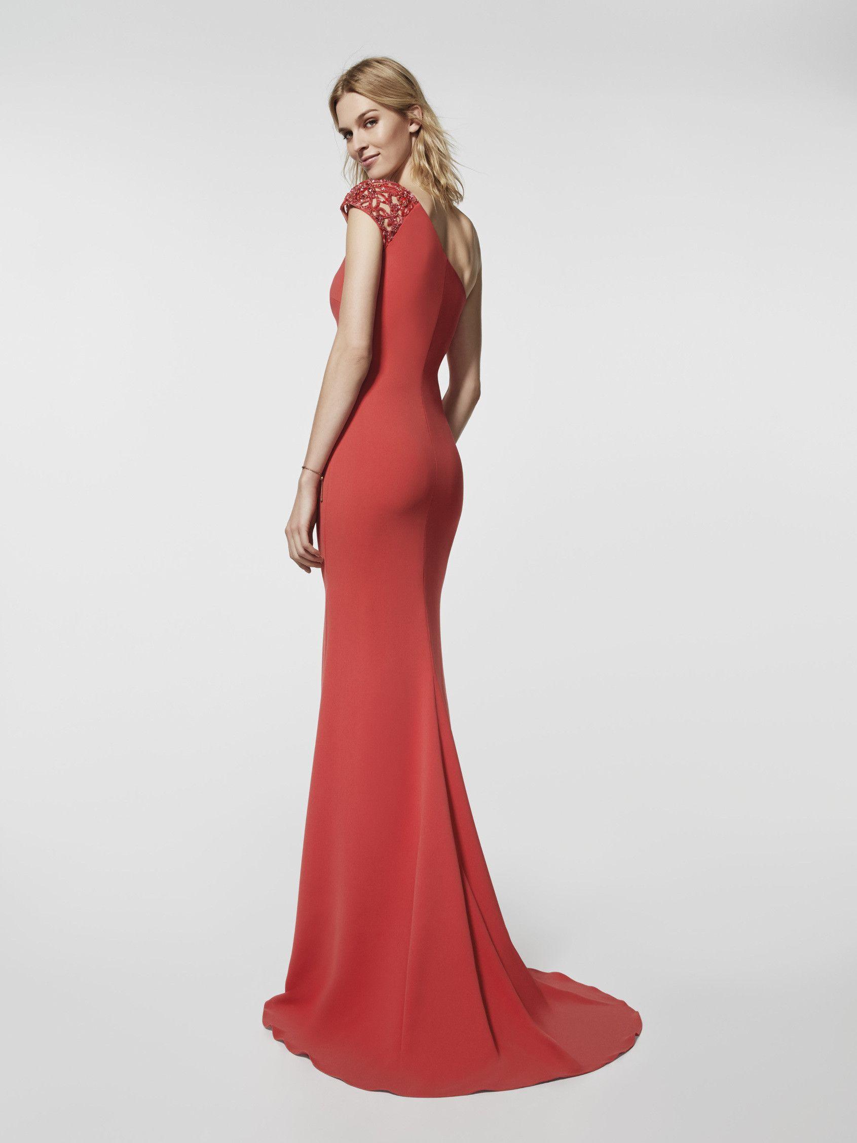 Photo of red cocktail dress grado long sleeveless dress