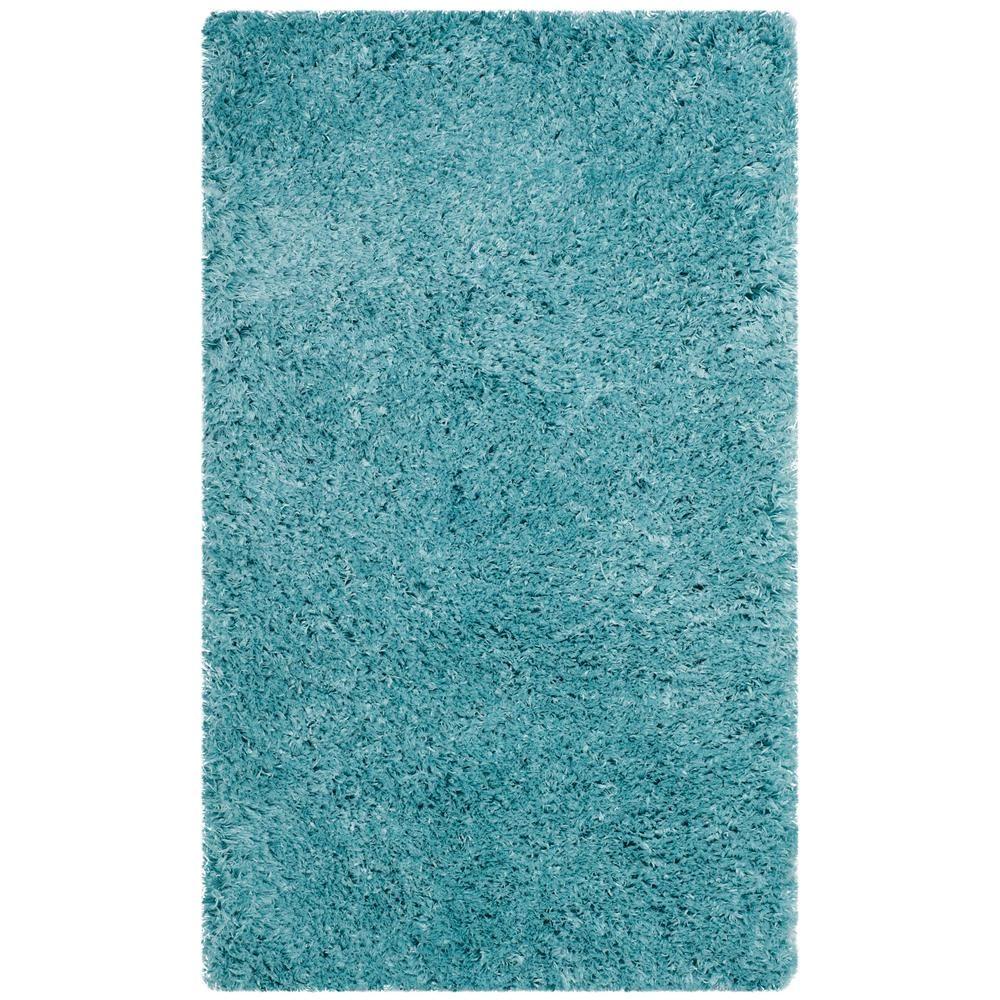 e6a1620de77f56 Safavieh Polar Shag Light Turquoise 3 ft. x 5 ft. Area Rug ...