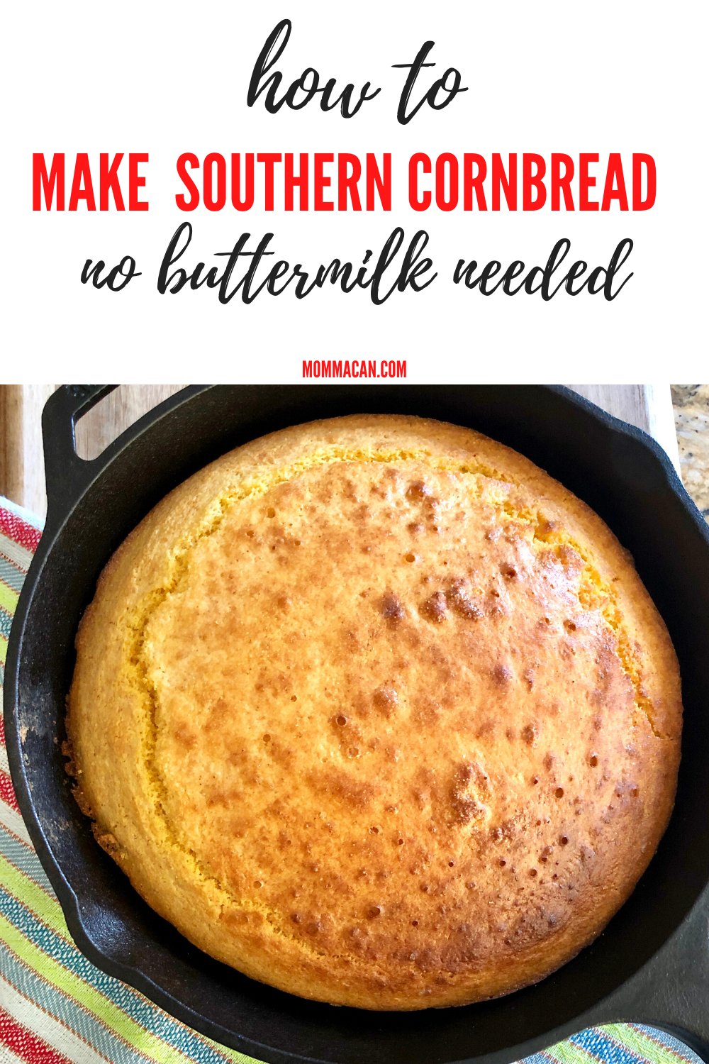 Southern Cornbread Without Buttermilk Recipe Recipe In 2020 Cornbread Recipe Sweet Buttermilk Recipes Best Cornbread Recipe
