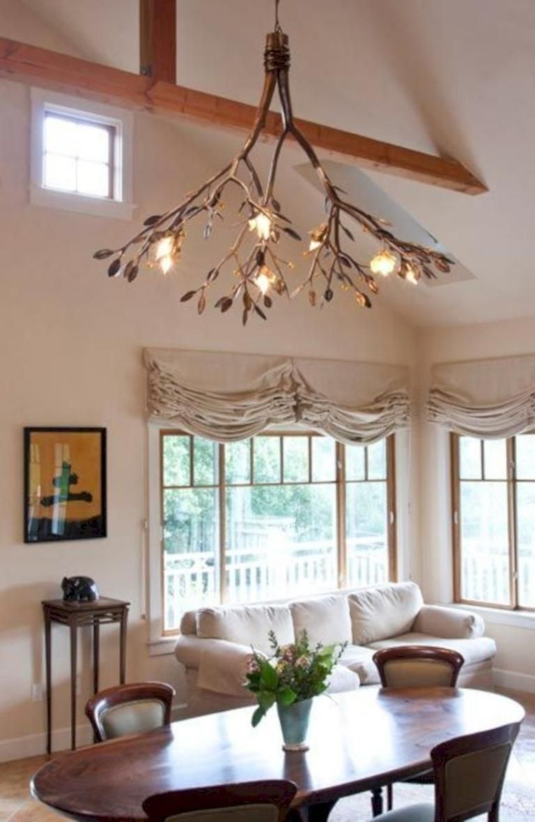 35 Stunning Decorating Ideas With Diy Hanging Lamp Branch Chandelier Diy Chandelier Rustic Chandelier