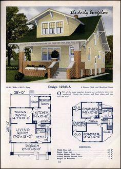 1925 26 C L Bowes House Plans Craftsman House Plans Craftsman Bungalow Exterior Vintage House Plans