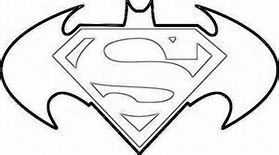 Batman Vs Superman Symbol Bing Images Superman Coloring Pages