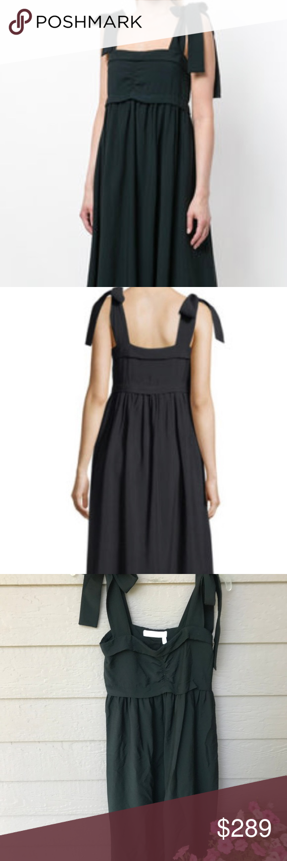 d0df3a1be5 See by Chloe Sleeveless Tie-Shoulder DRESS SZ 34 $425 See by Chloe See by