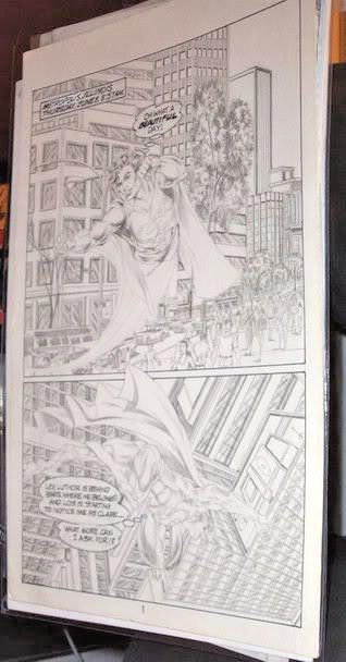 Superman Page Of Comic Art By A Pro Nicely Penciled Comic