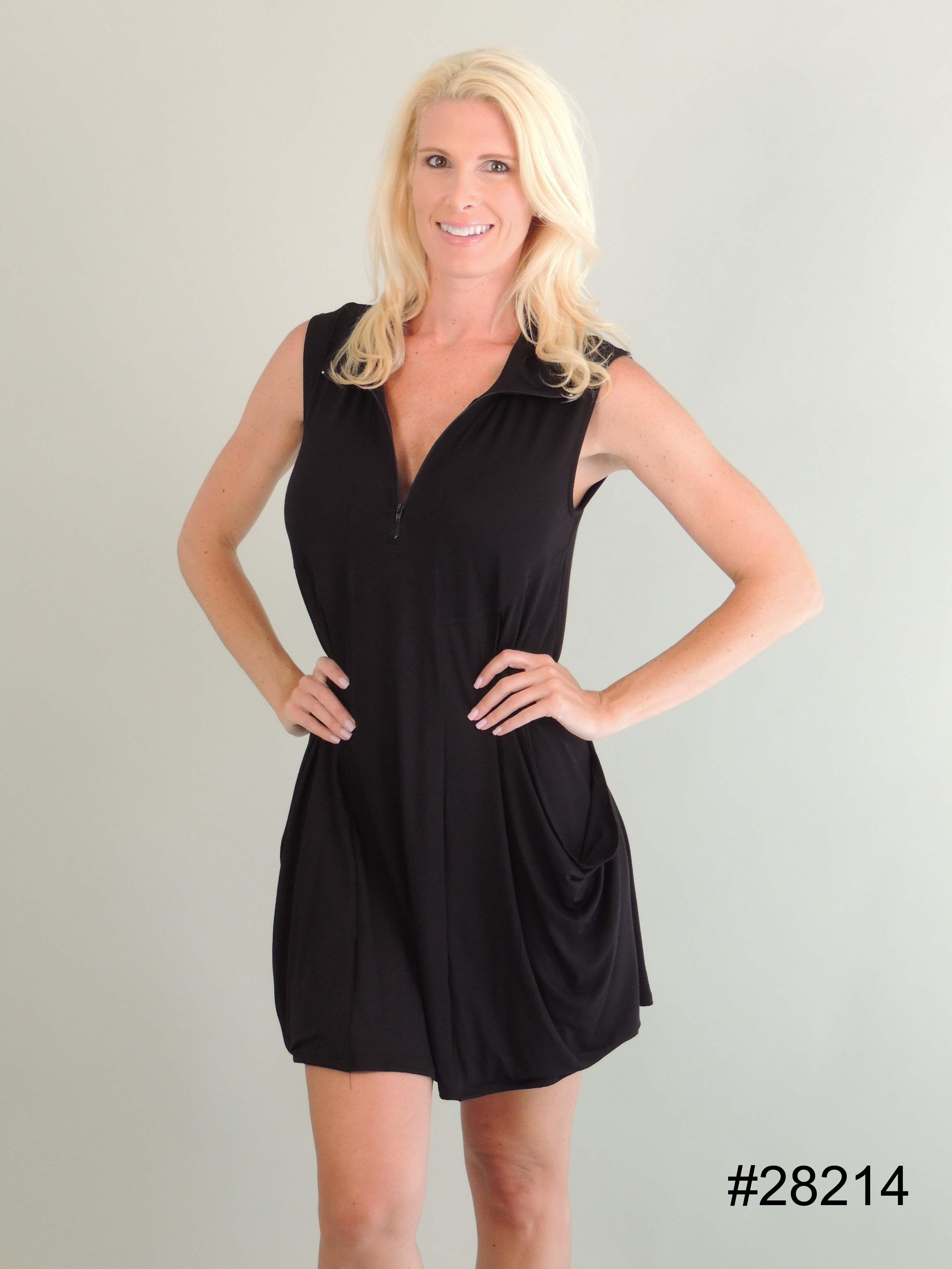 14c3d30624 J. Valdi Tank Zip Up Dress Cover Up. Color black. This bathing suit