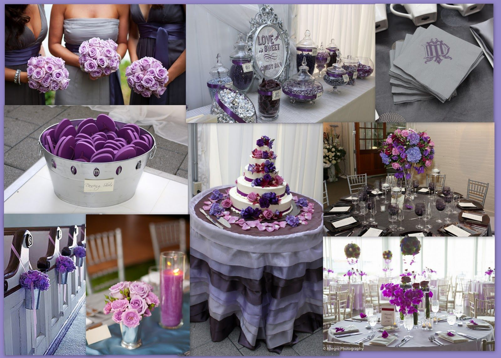 Wedding Purple And Gray Snuggle S Blog Silver Cake