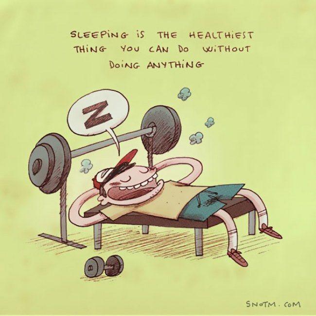 Dormir é a coisa mais saudável que você pode fazer sem fazer nada. Coisas que ninguém me disse - Alex Noriega