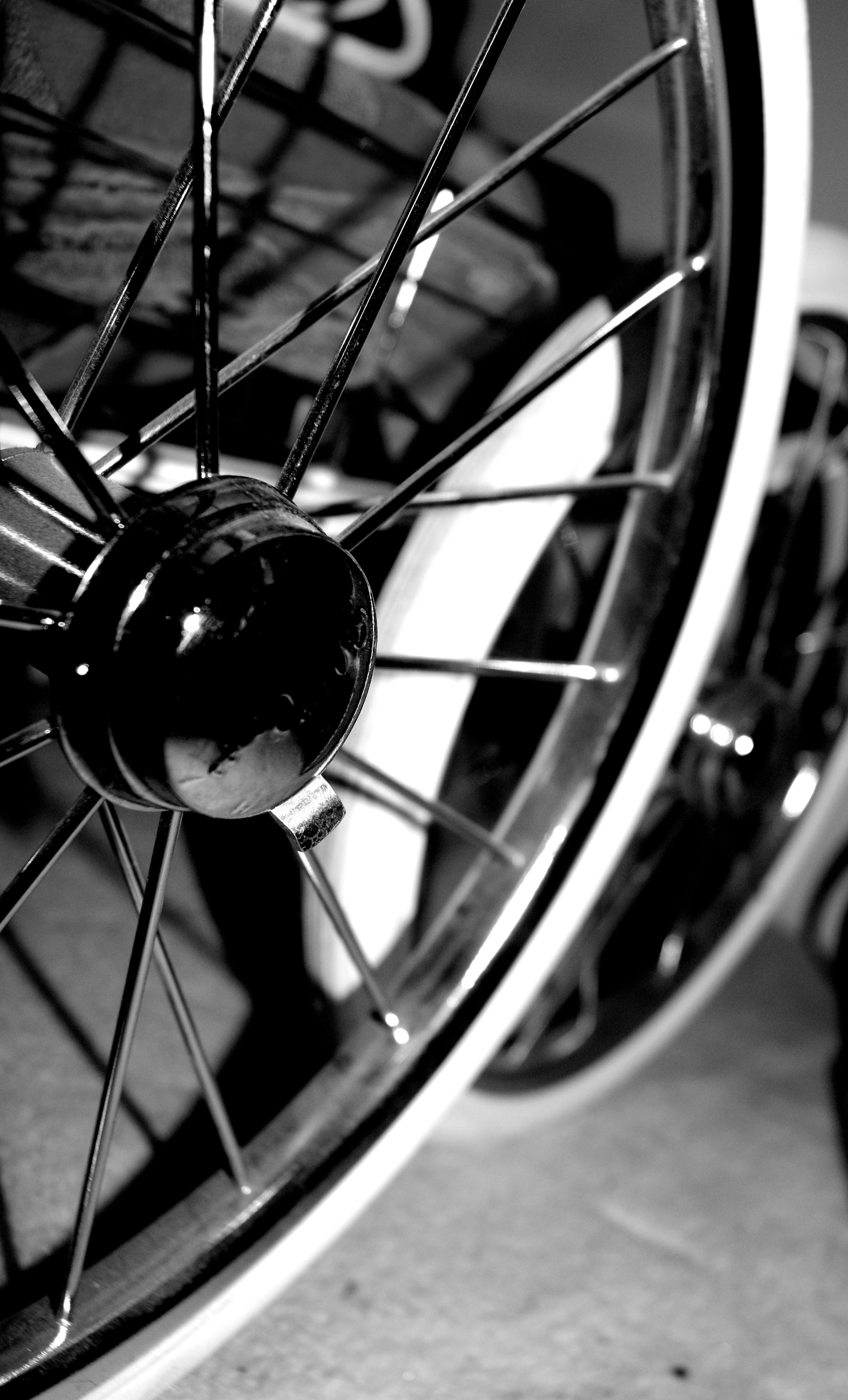 A different view of my sister's prams spokes