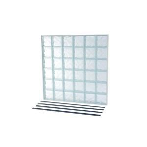 Tafco Windows Nailup2 48 In X 48 In X 3 1 4 In Wave Pattern Solid Glass Block Window Nu2 4848ws At The Home De Glass Block Windows Glass Blocks Wave Pattern
