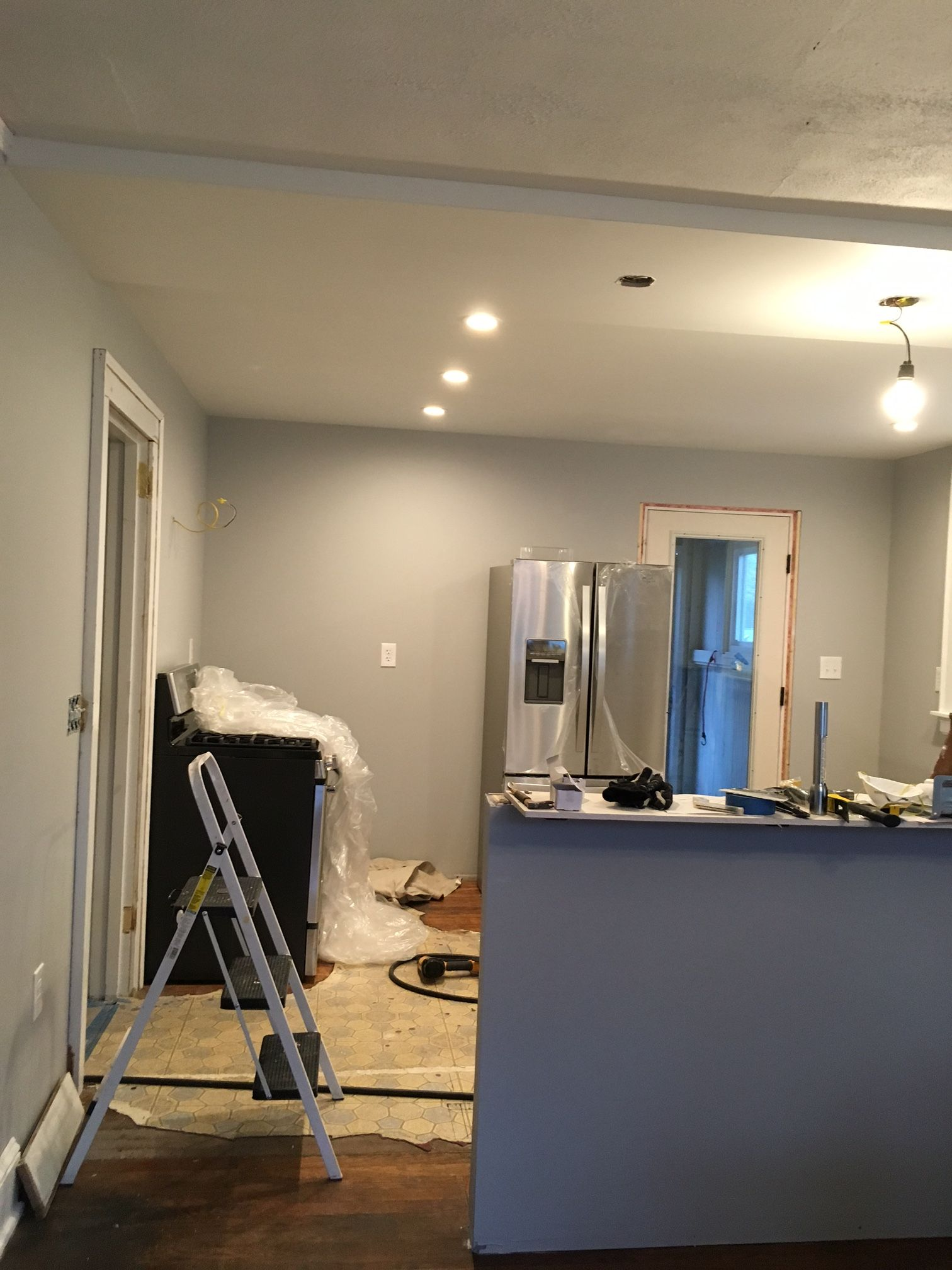 Grey Painted Rooms Behr Quotsilver Bullet Quot Kitchen And Dining Room Renovation