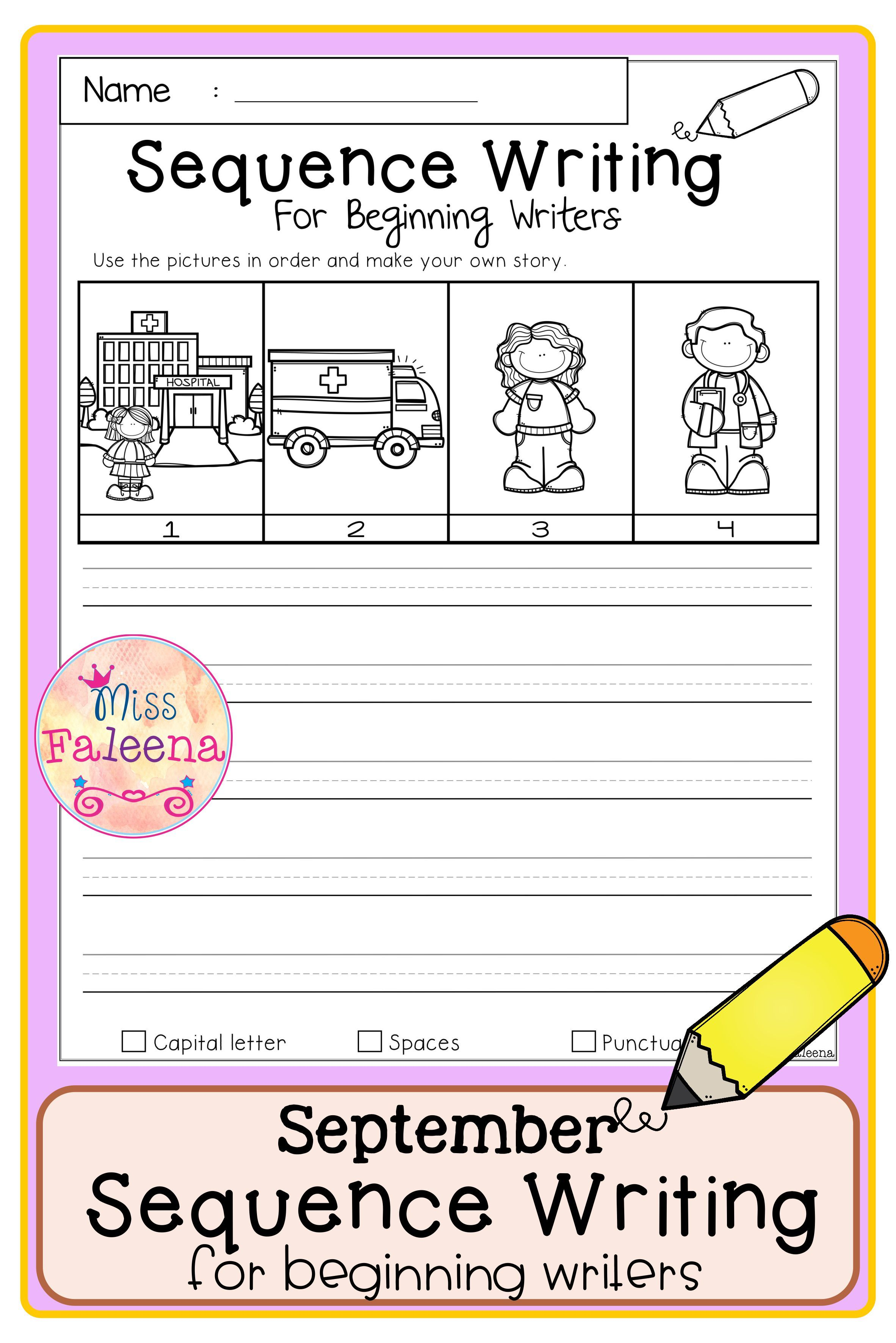 September Sequence Writing For Beginning Writers Di
