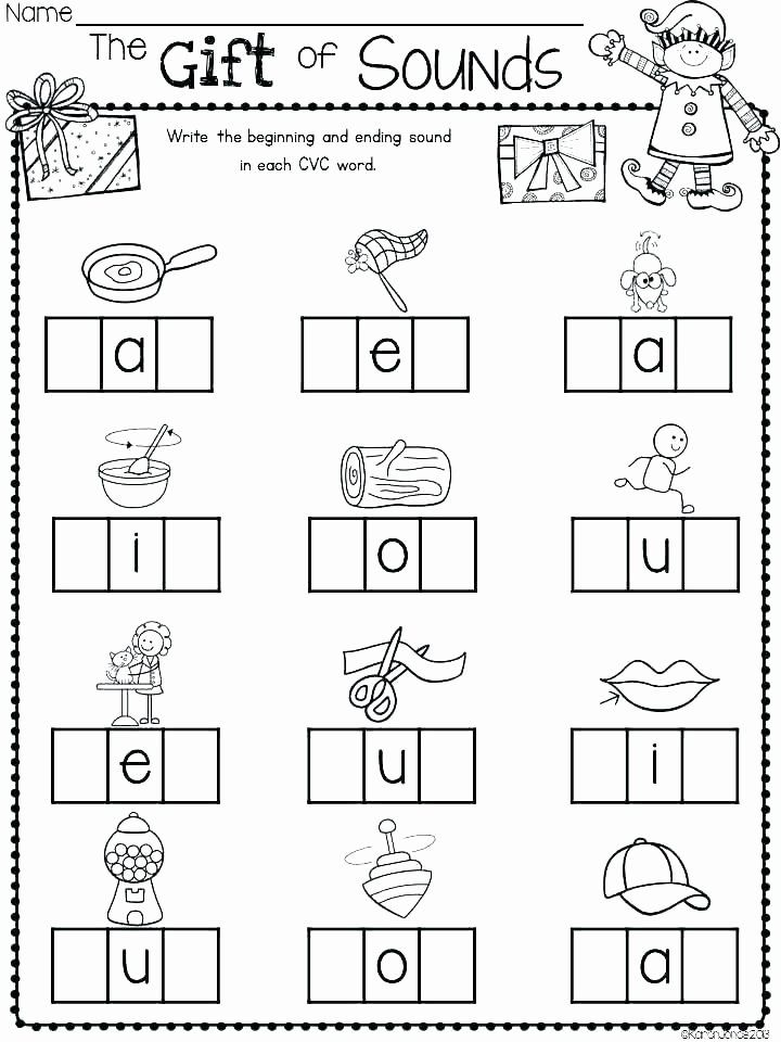 Cvc Worksheets Kindergarten Free Blending Cvc Words