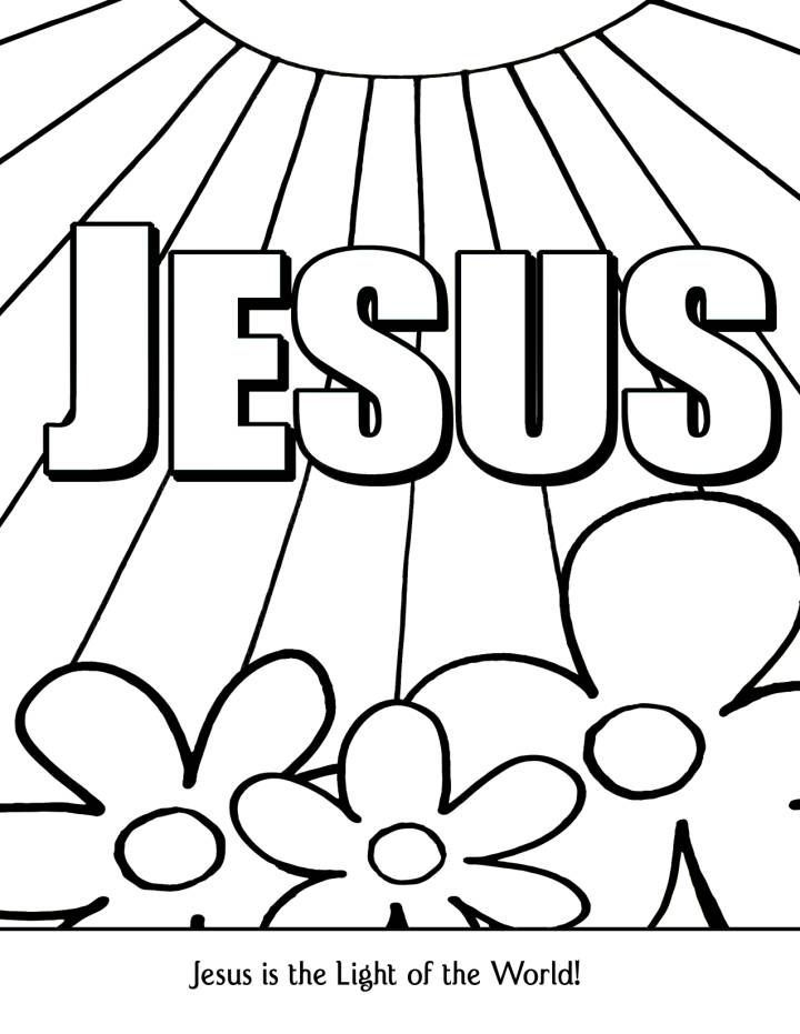 jesus light of the world coloring page new hope material children
