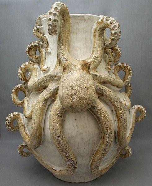 Octopus Vase Giant Double Ceramic Sculpture Art Ceramics Sculpture Ceramic Pottery