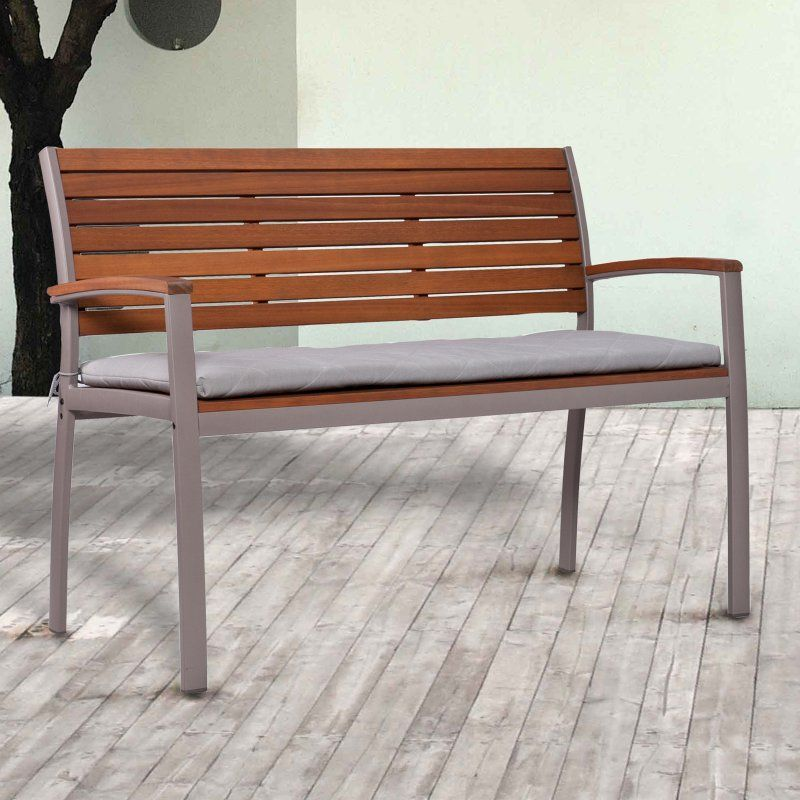 Southern Enterprises Kingshill Outdoor 3 Ft Bench With Cushion