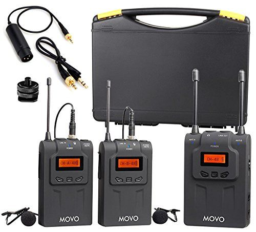 Movo Wmic80 Uhf Wireless Lavalier Microphone System With 2