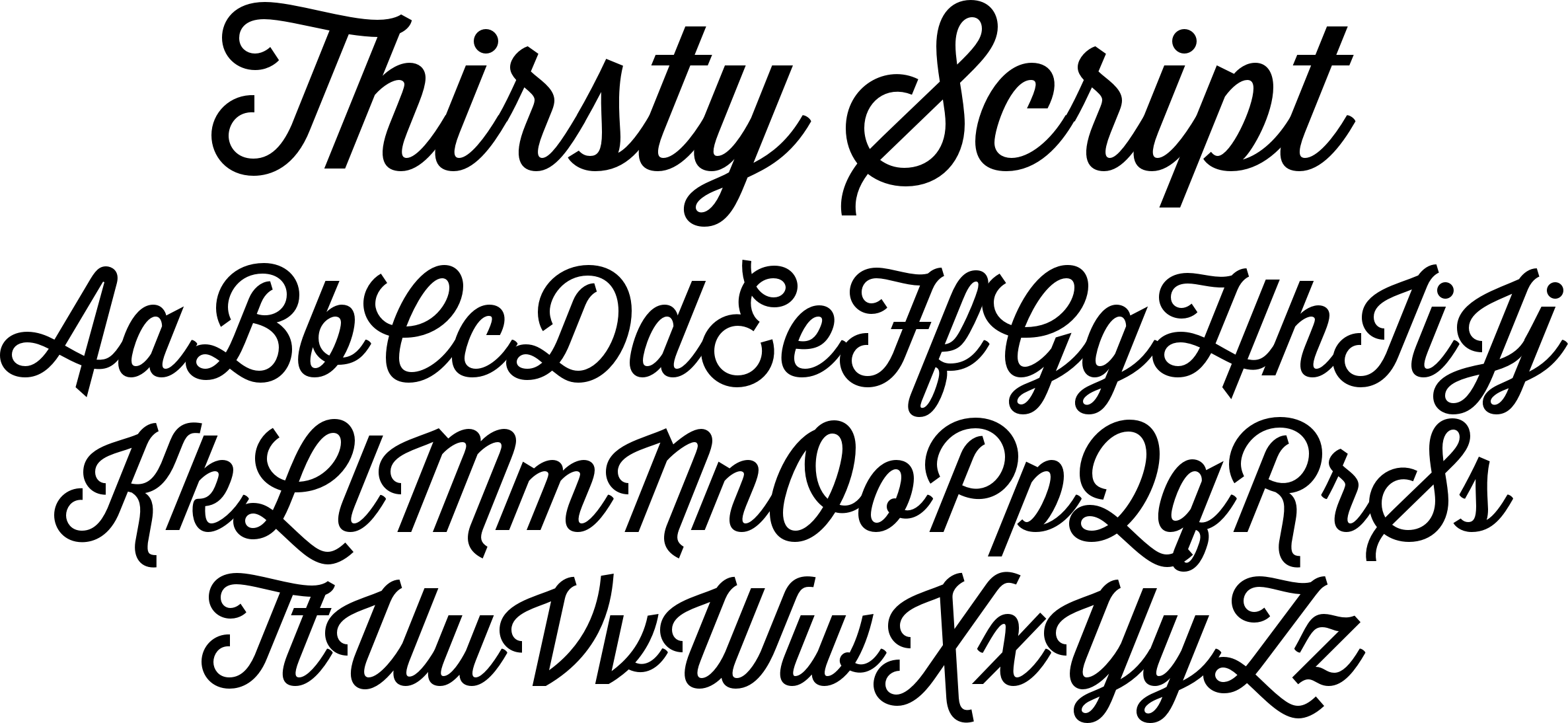 Thirsty Script Font A Contemporary Script Conceived As A