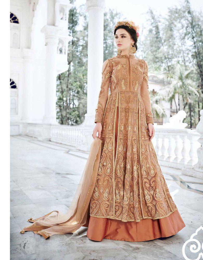 bc64f8cf63 Indo Western Bollywood Designer India Party Wear Brown Dress New Salwar Suit  #RadhaKrishnaExports #SalwarKameez