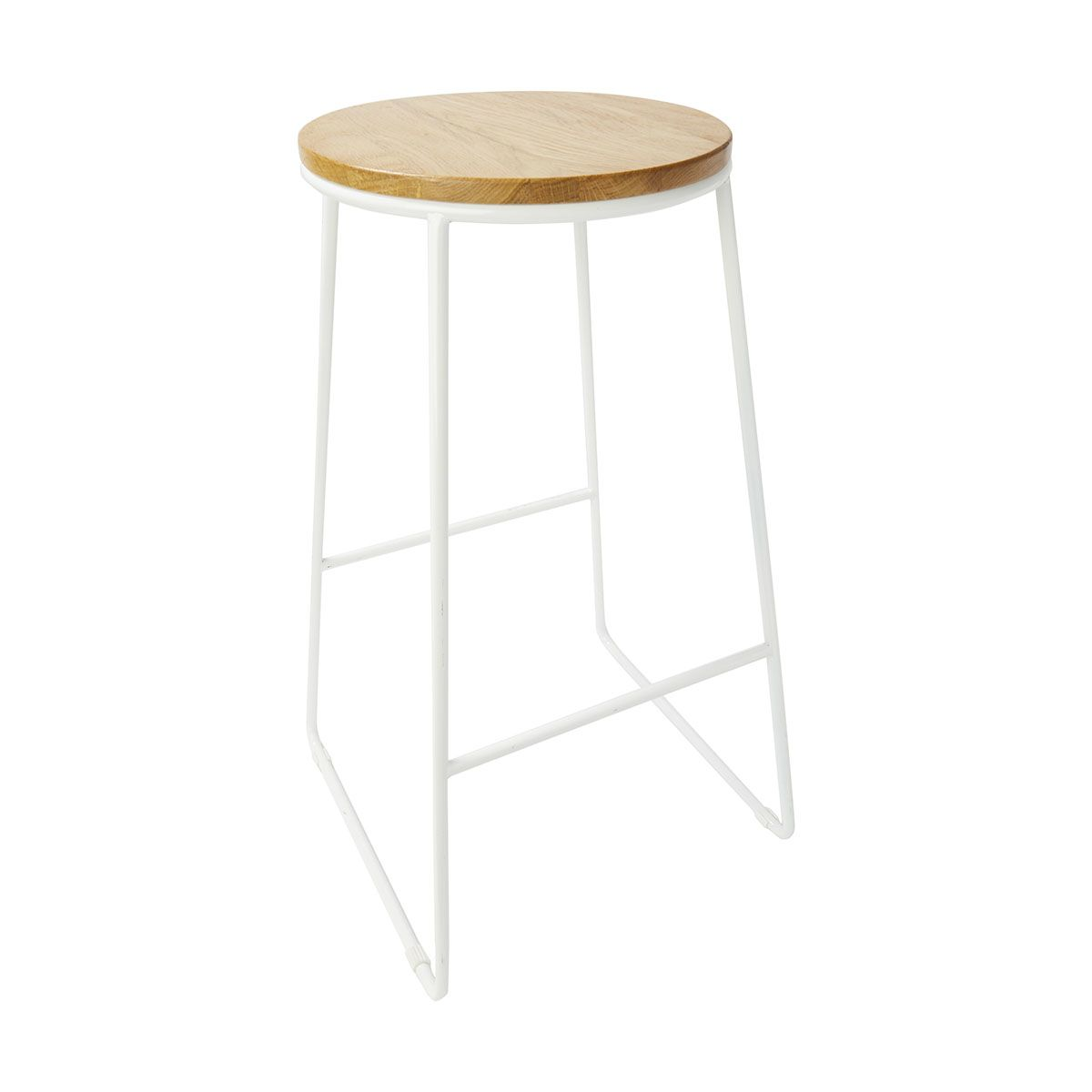 Industrial Stool - Natural & White | Kmart | House ideas ...