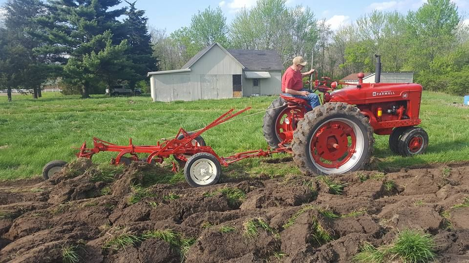 M Pulling An Ih 3 Bottom Plow Farmall Red Tractor Tractor
