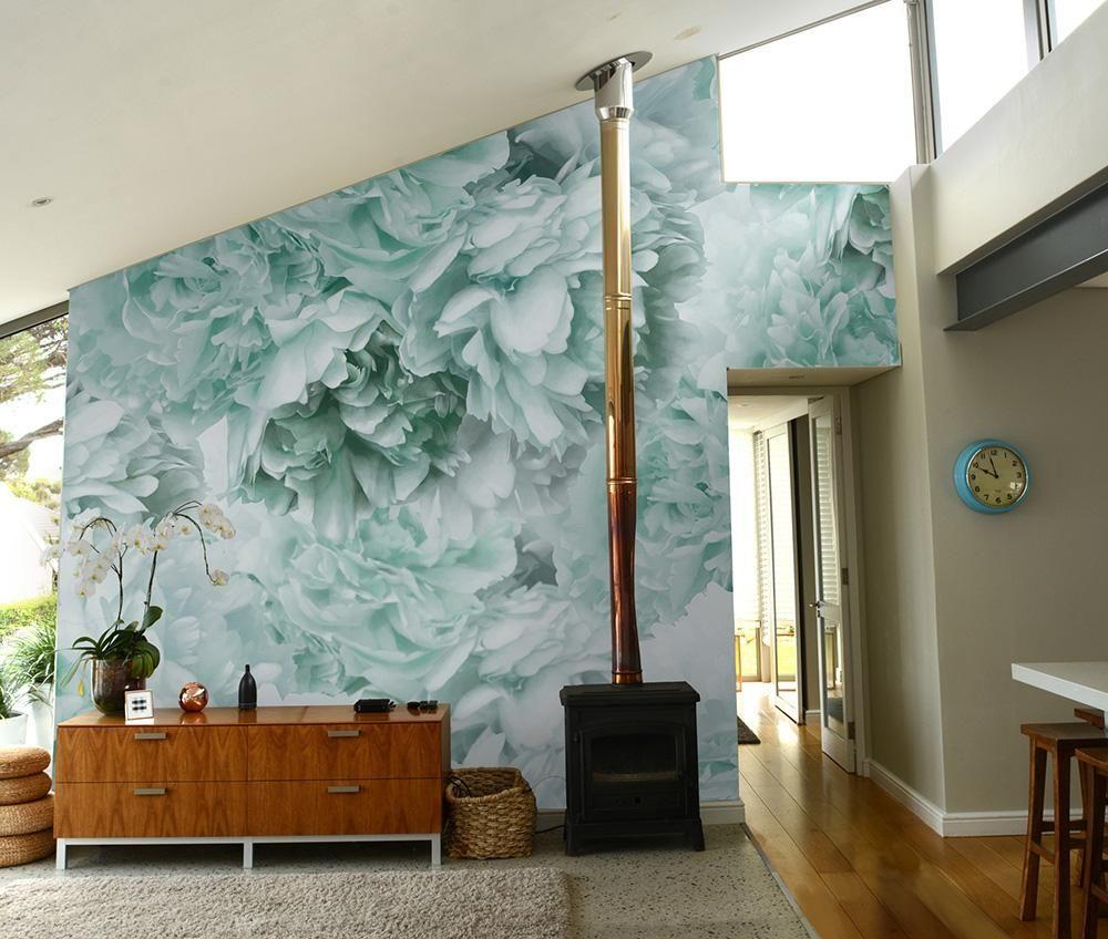Best Mint Green Peony Mural Wallpaper Mint Green Rooms Mint 400 x 300