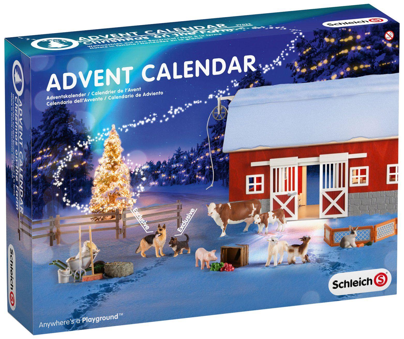 Schleich Weihnachtskalender.Amazon Com Schleich Christmas On The Farm Advent Calendar Set Toys