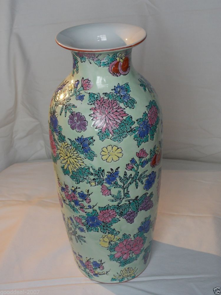 Chinese Porcelain Vase With Marking Cloisonne Pottery China