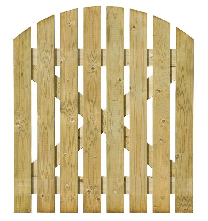 Grange Timber Domed Gate H 1 05m W 0 9 M B Q For All Your Home
