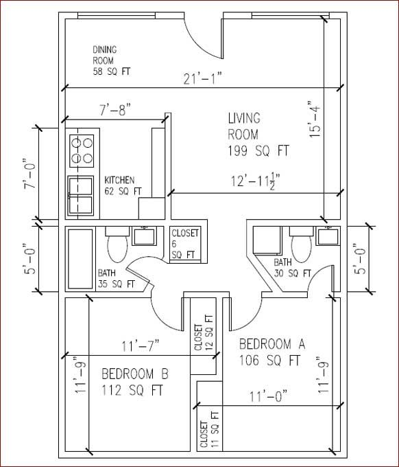Gf Property Group Usc Housing House Apartment Rentals For Usc Students Usc Rentals 2 Bedroom House Plans Dream House Plans House Plans