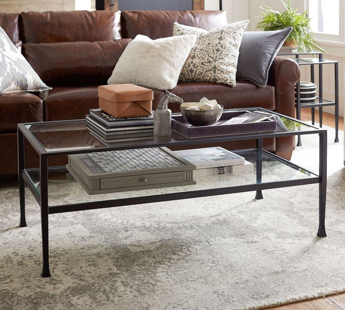 Tanner Rectangular Coffee Table Bronze Finish With Images