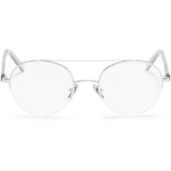 4b69ccbebad Super  Numero 24  double bridge round wire optical glasses (405 CAD ...