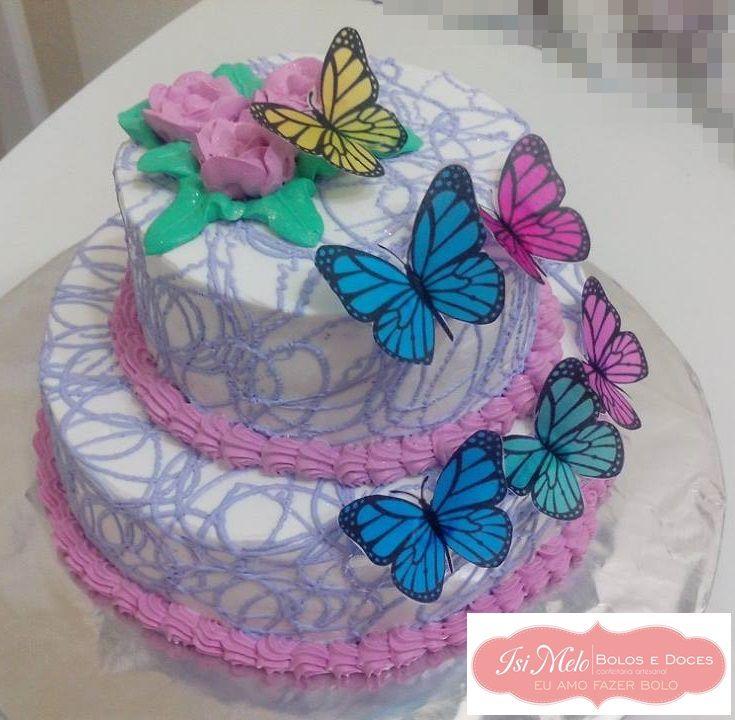 Bolo borboletas bolos com chantilly pinterest bolo borboletas altavistaventures Image collections