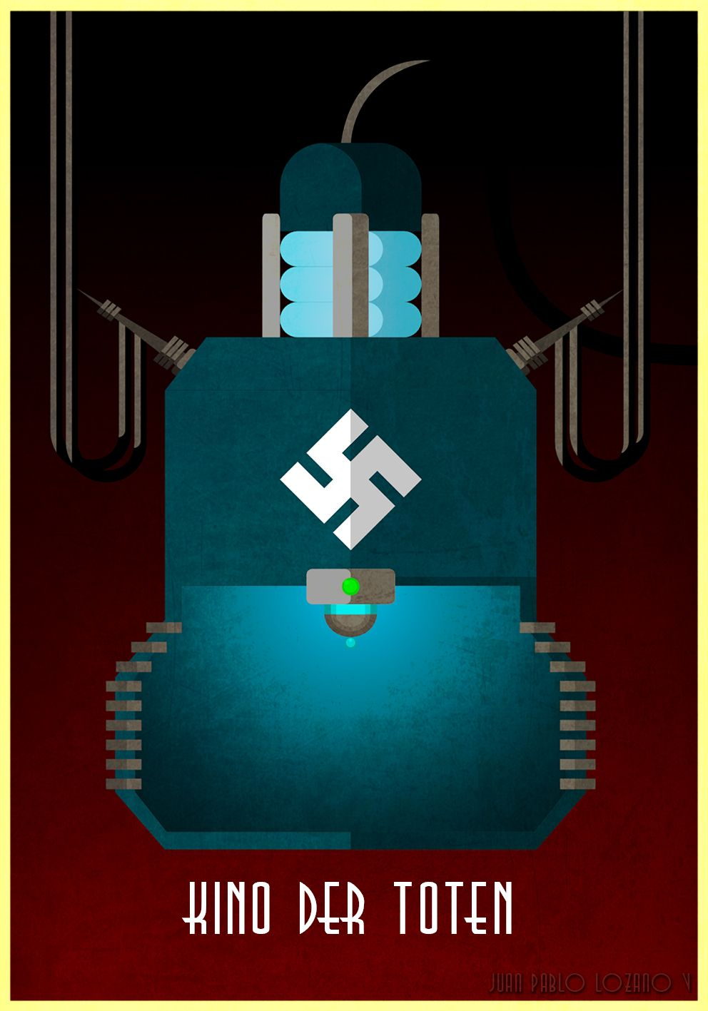 Kino Der Toten Post Digital Vector Art Of Teleporter Video Gaming