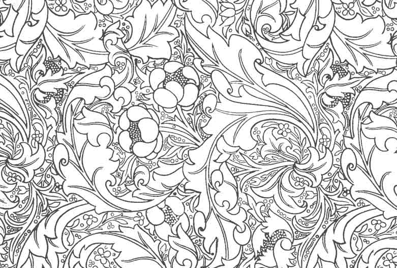 How To Draw William Morris William Morris Colouring Pages