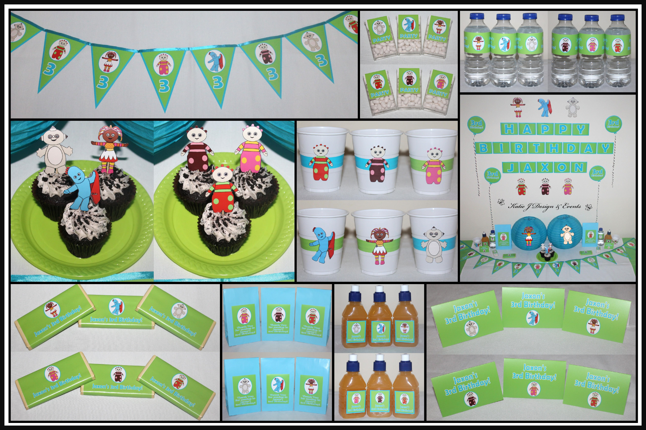 Personalised In The Night Garden bunting party decoration birthday