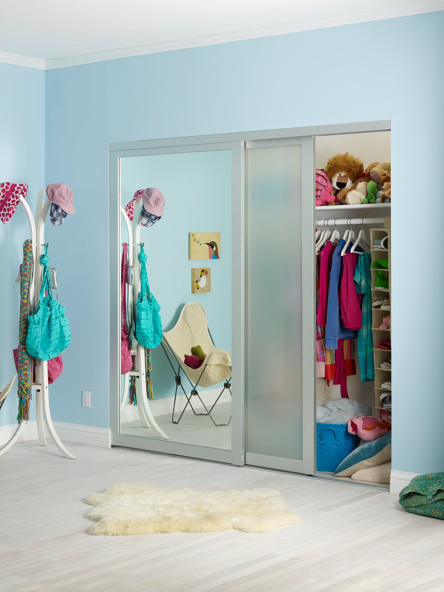 Closet one half mirrored door the other is frosted nursery closet one half mirrored door the other is frosted amipublicfo Choice Image