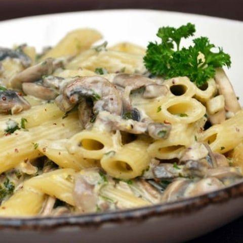 Pâtes Penne aux champignons et moutarde à l\u0027ancienne trop bon - cuisine a l ancienne