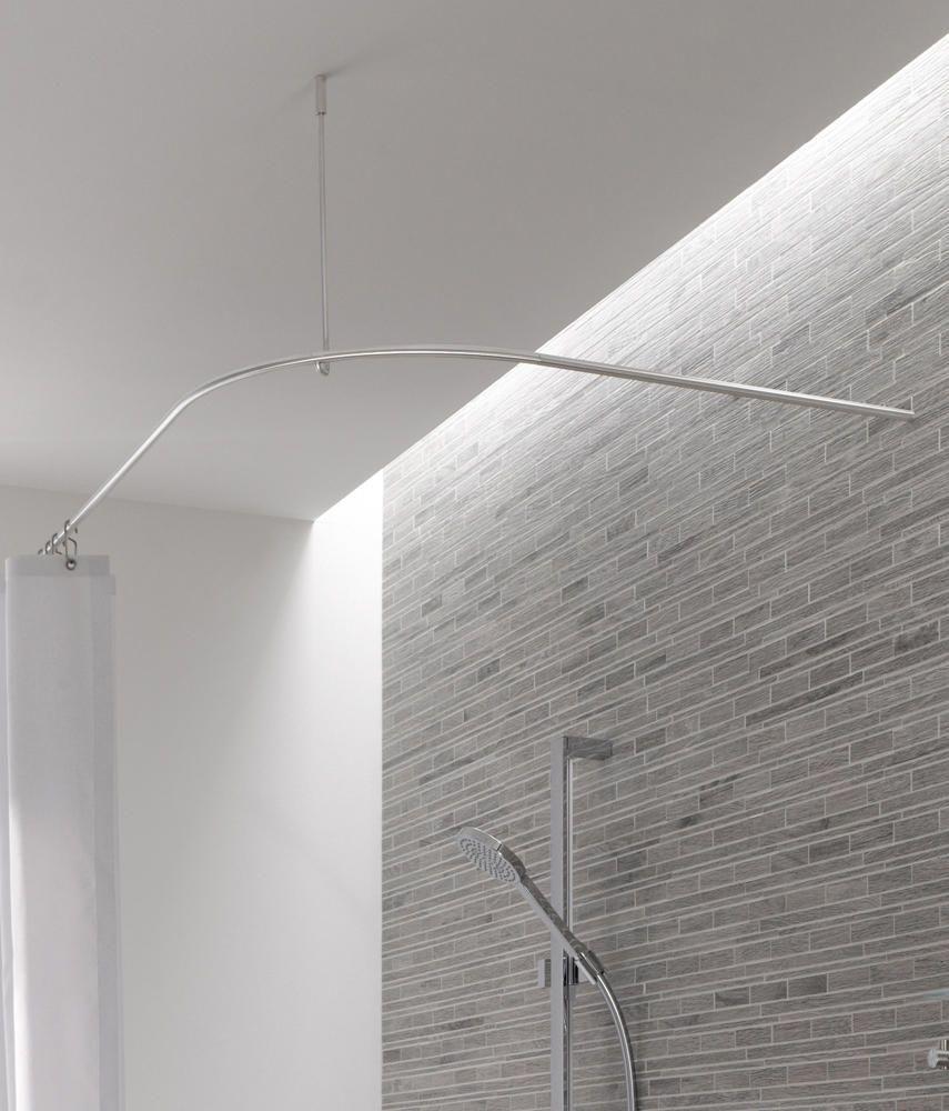 Duschvorhangstange ds b 300 800 di phos design bastone per tenda doccia casa pinterest - Tenda doccia design ...