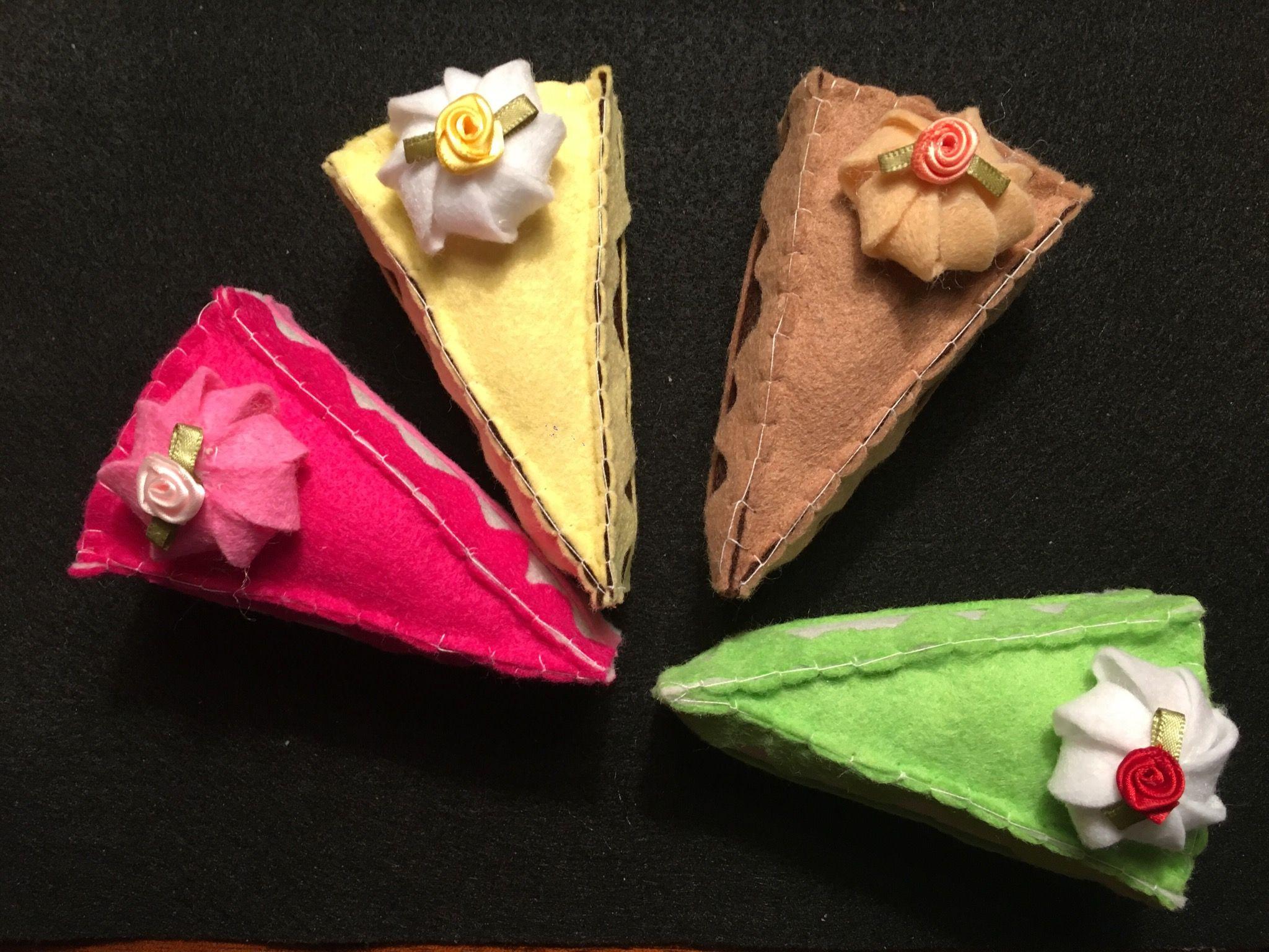 Felt Cake Slice Ornaments Handmade felt ornament, Felt