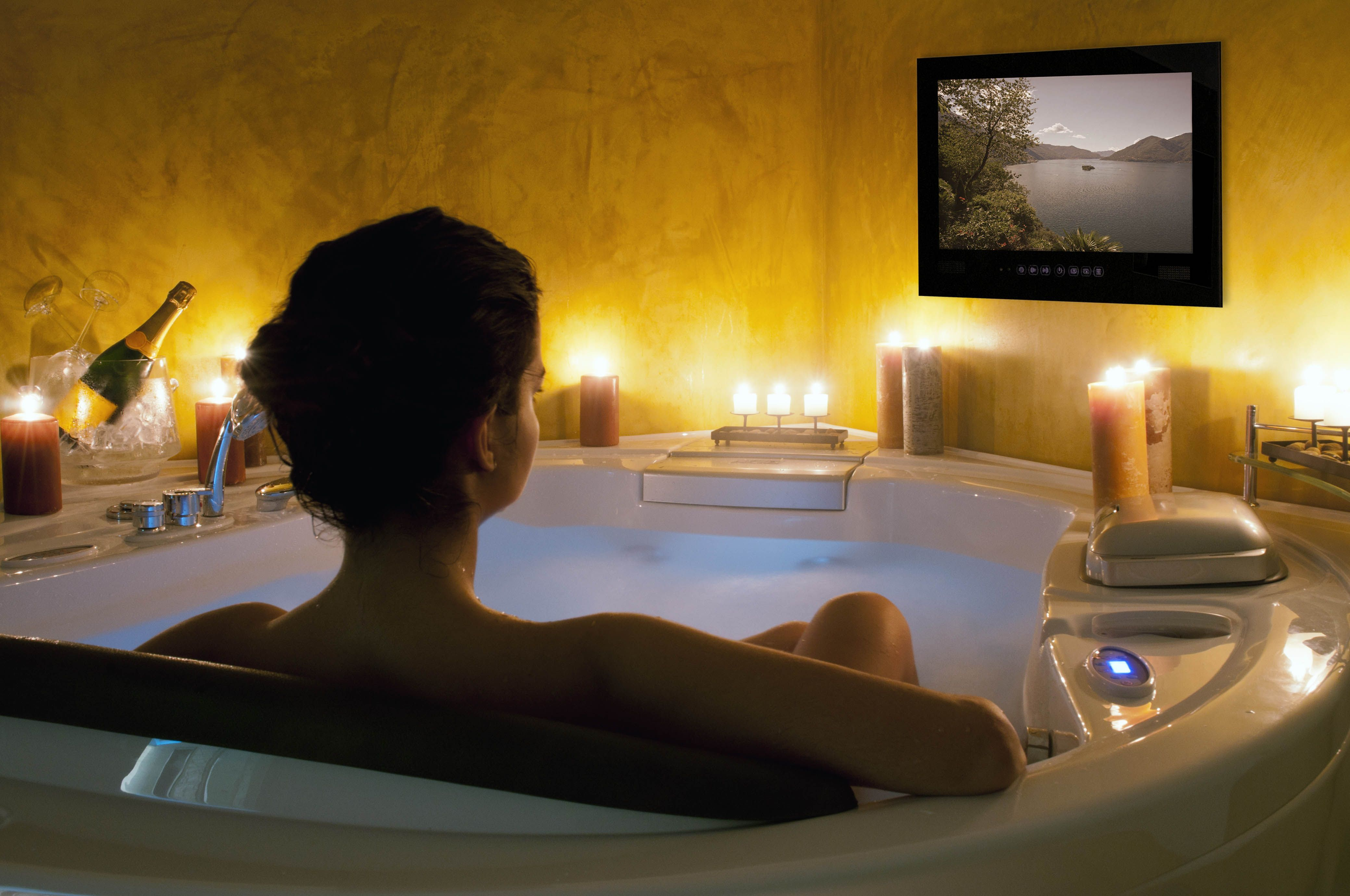 Modern relaxing buy a bathroom tv to watch in the bath things i