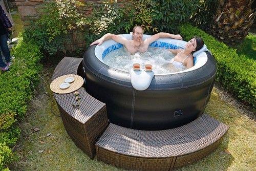 Jilong Avenli 4 Person Spa Prolong Deluxe Inflatable Hot Tub Inflatable Hot Tubs Hot Tub Backyard Hot Tub Reviews