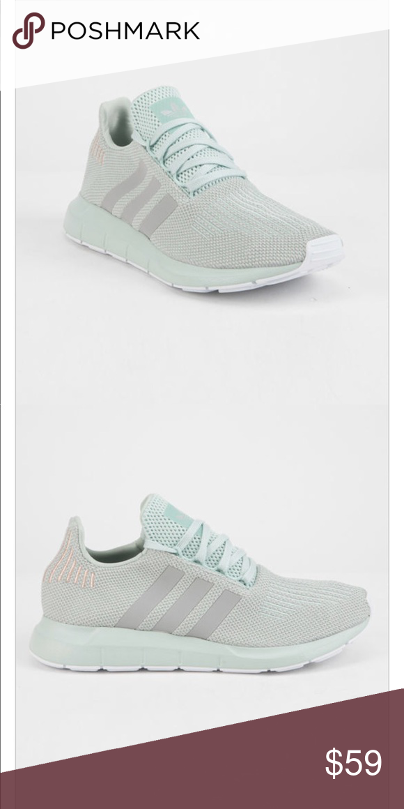adidas swift run green & gray womens shoes
