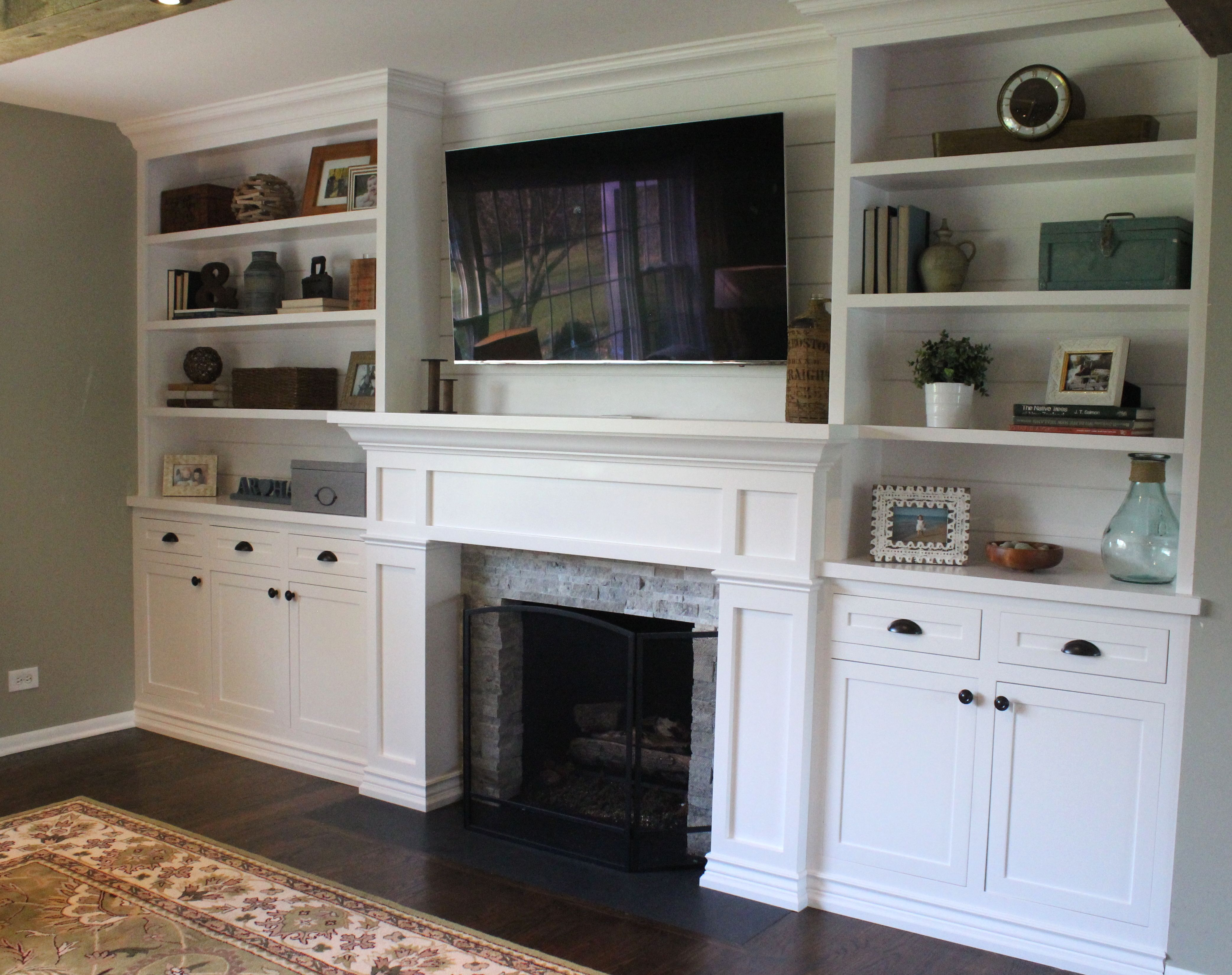 Our Living Room Built Ins Are Finally Done And They Look Amazing Endearing Living Room Built Ins Review