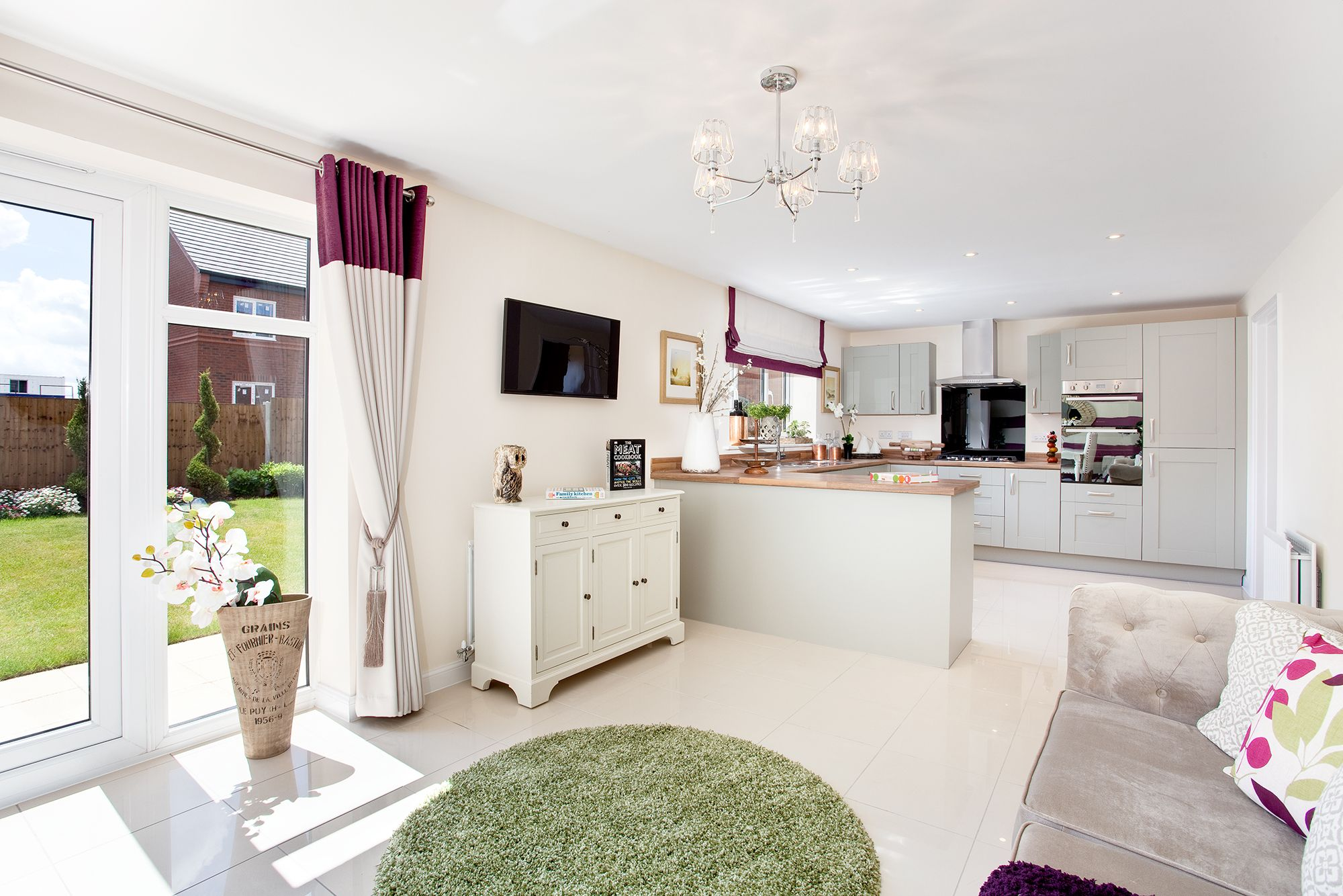The Kitchen In The Chester At Malbank Waters In Nantwich Bovis - New homes kitchen designs