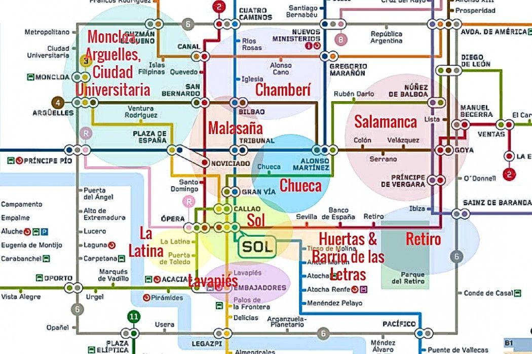 Madrid Neighborhood Map Barrio Overview By Naked Madrid Madrid - Lisbon portugal neighborhoods map